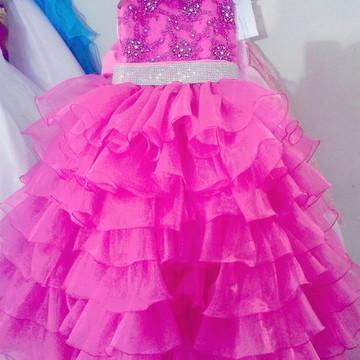 Vestido Infantil Festa Strass Daminha Miss Noivinha vi01mb