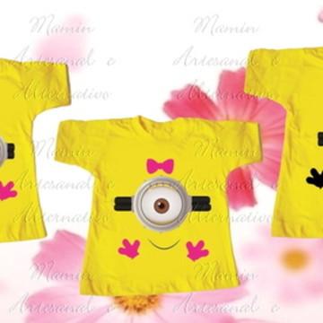 kit 3 Camisetas Divertida Minions