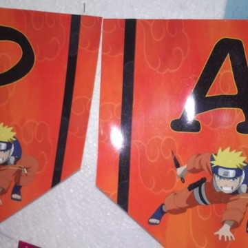 Faixa Parabens Naruto personalizada