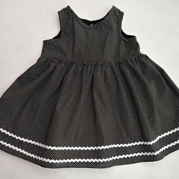 Vestido Poá preto (2181002)