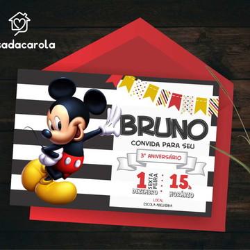 Convite DIGITAL Mickey Mouse