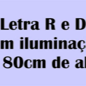 Letra R e D com iluminação