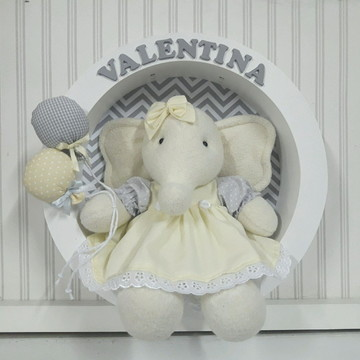 Porta Maternidade Elefantinha com leds