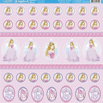 Papel Scrapbook Artesanato Princesa Litoarte 1 fl #SBB028