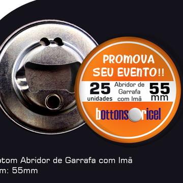 25 Bótons Abridor de Garrafa 55mm com Imã