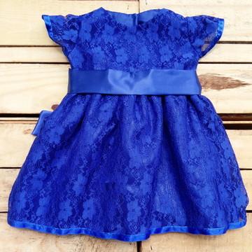 Vestido Festa Renda Meninas Infantil