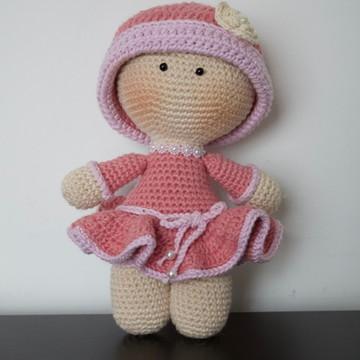 Boneca Yoyo em crochê - Amigurumi