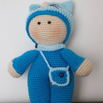 Boneco Yoyo em crochê - Amigurumi
