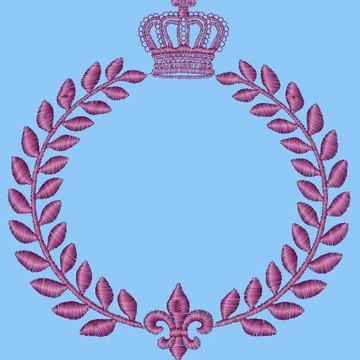Matriz de bordado brasão c coroa