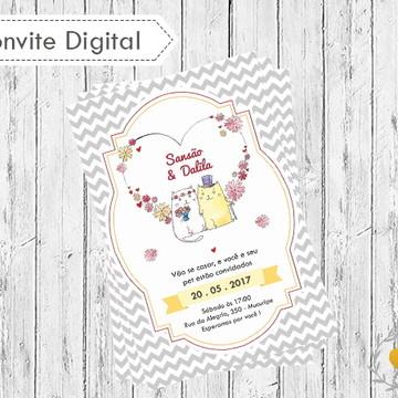 Convite digital Casamento Pets