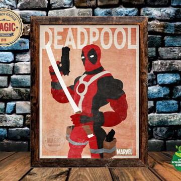 Quadro Rústico Deadpool