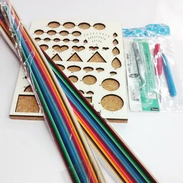 Kit Completo Para Quilling Ferramentas e 250 tiras de papel