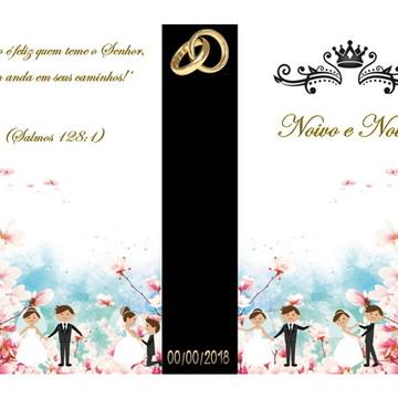 Convite para casamento noivihos (caixa livro)