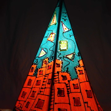 Luminaria artesanal Tipi
