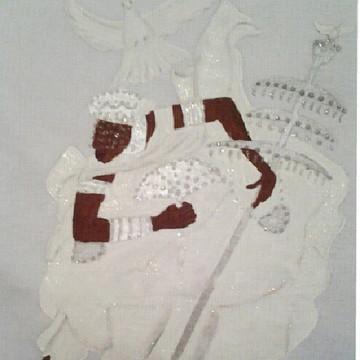 Camiseta Pintada á Mão Oxalá / Oxaguian / Oxalufan