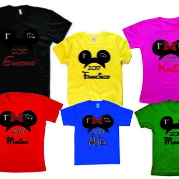 6 camisetas para viagem disney