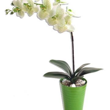 PROMOÇÃO -Orquídea Green Arranjo Flor Artificial Polietileno