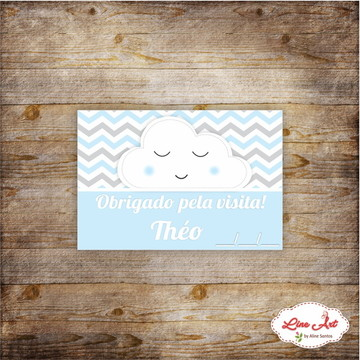 Tag agradecimento chevron maternidade