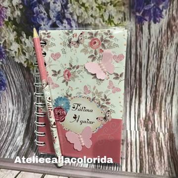 Bloco de anotações capa dura Rosa