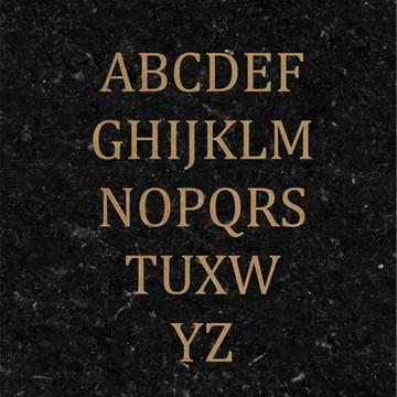 Letras em Mdf Cru 3mm Fonte Cambria (Altura 2cm)