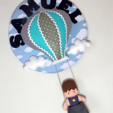 Guirlanda Enfeite de Porta Maternidade Menino no Balão