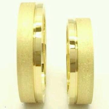 Par de Aliança 5mm Prata Banhada ouro
