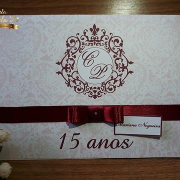 Convite 15 anos / Casamento Bordô
