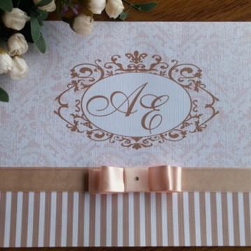 Promoção Convite Casamento /15 anos rosé