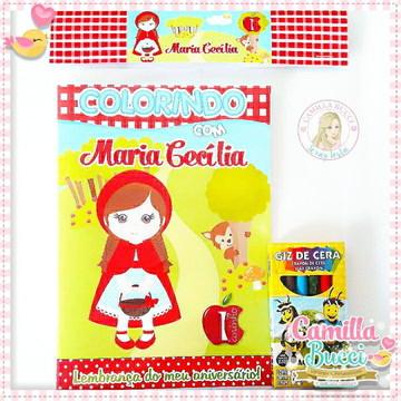 Kit Colorir Chapeuzinho Vermelho