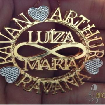 Mandala Personalizada Nome no Infinito