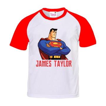 Camisa Infantil superman - manga colorida