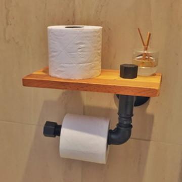 Dispenser simples e Porta Papel Higiênico   Decor Industrial