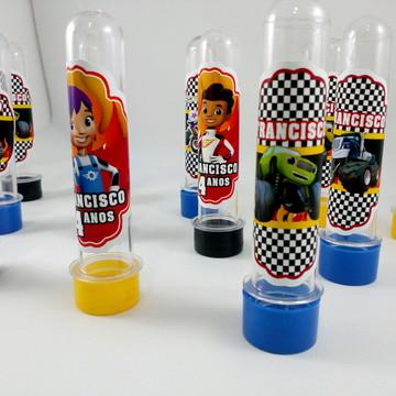 Tubetes tema carros de corrida Blaze Monster Machine