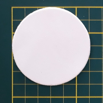 Aplique de circulo 6 cm em EVA (pacote com 25