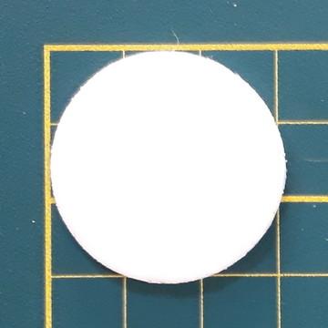 Aplique de circulo 3 cm em EVA (pacote com 50 und)