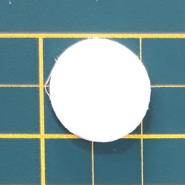 Aplique de circulo 2 cm em EVA (pacote com 80 und)