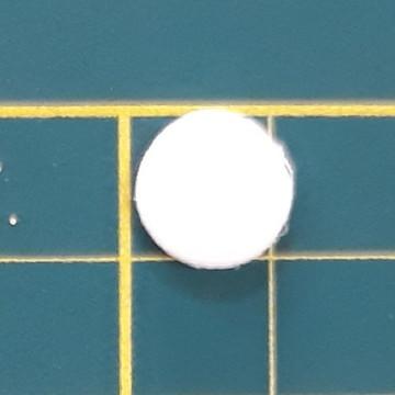 Aplique de circulo 1 cm em EVA (pacote com 100 und)