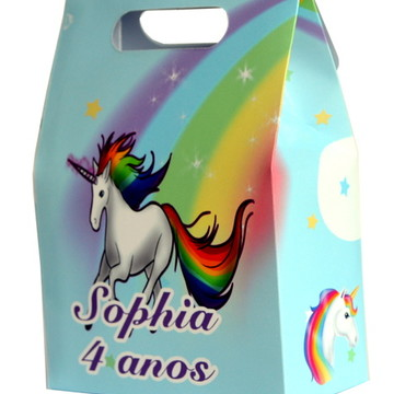 Sacolinha surpresa personalizada Unicornio