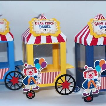 Caixa Carrinho de Pipoca Circo - Todos os Temas