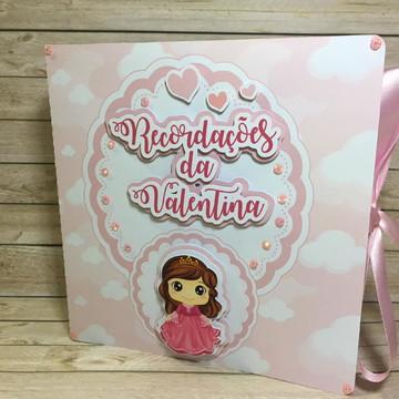 Caixinha Recordações do bebê + Álbum Dental - Princesinha