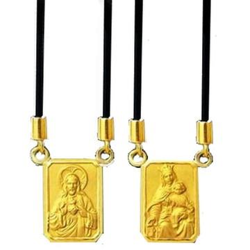 Nelcy Joias Escapulário Ouro 18k Silicone 2 Ref 00019