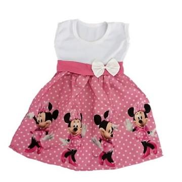 Vestido Infantil Festa Minnie