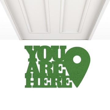 Capacho porta you are here verde localização(você está aqui)