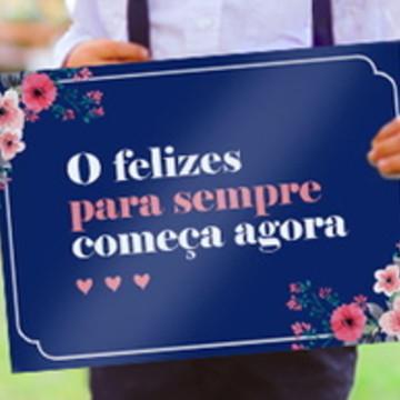 Placa Casamento Daminha e Pajem