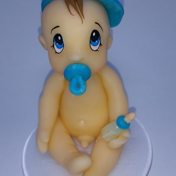 Topo de bolo Bebê para chá de bebê Menino