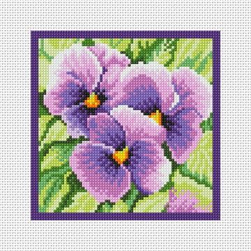 Violetas - Gráfico Ponto Cruz