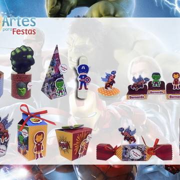 Kit: 110 Lembrancinhas Personalizadas Vingadores