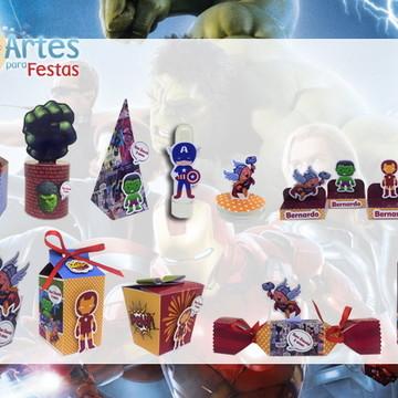 Kit: 145 Lembrancinhas Personalizadas Vingadores