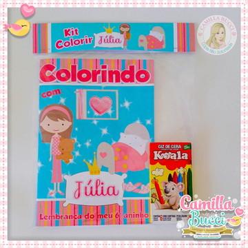 Kit Colorir Festa do Pijama