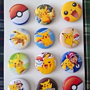 Cartela de Bottons Pokemon